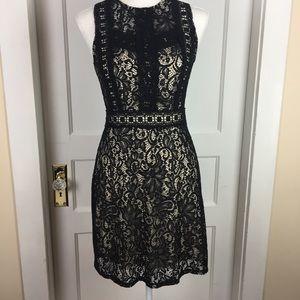 Disney Beauty and the Beast Black Lace Dress Sz S